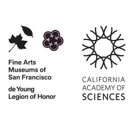 de young and california academy of sciences logos