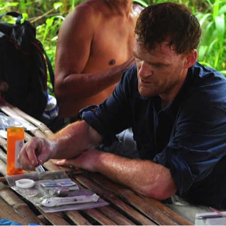 Dr. Matthew Lewin on an expedition to Southeast Asia