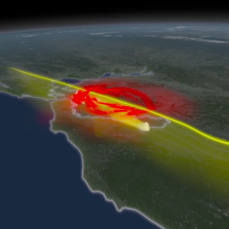 Computer simulation of an earthquake