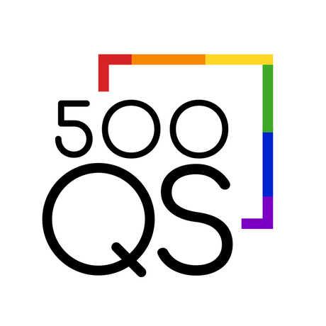 500 Queer Scientists rainbow logo