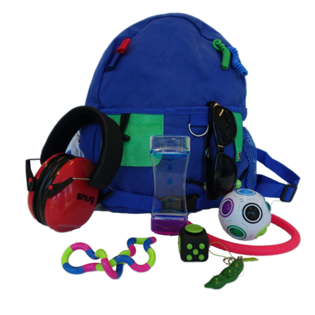 New Sensory Kit backpacks available at the Academy for guests with sensory sensitivities
