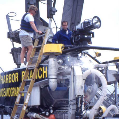 McCosker in the Johnson Sea-Link