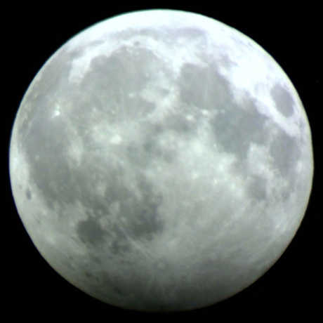 The Moon during a penumbral lunar eclipse
