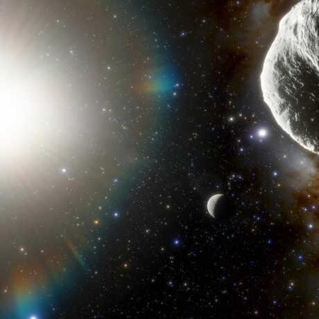 Illustration showing the asteroid 2021 PH27 inside Mercury's orbit