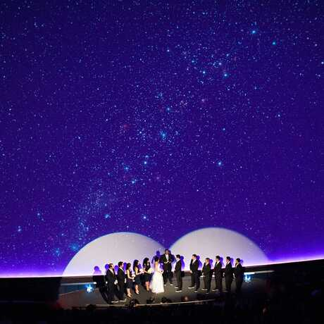 Wedding inside the Planetarium