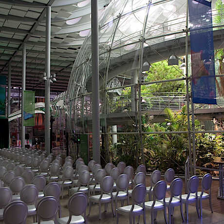 East and West Halls next to rainforest dome
