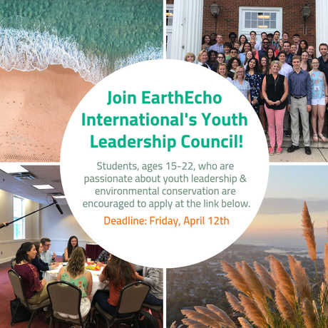 EarthEcho's Youth Leadership Council Applications Now Open