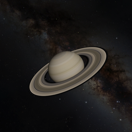 OpenSpace image of Saturn
