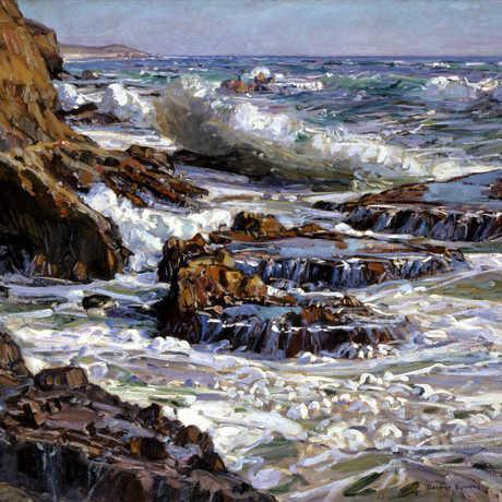 Coastal painting by Gardner Symons