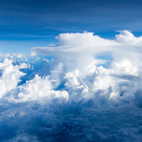 Weather clouds against a blue sky