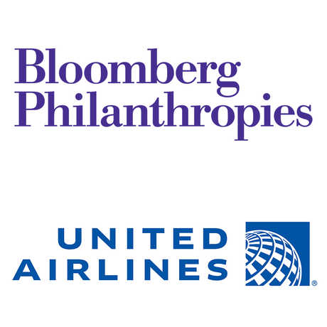 Bloomberg Philanthropies and United Airlines logos