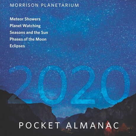 Cover of the 2020 Morrison Planetarium Pocket Almanac