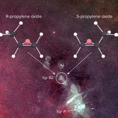 Chiral Molecule, B. Saxton, NRAO/AUI/NSF from data provided by N.E. Kassim, Naval Research Laboratory, Sloan Digital Sky Survey
