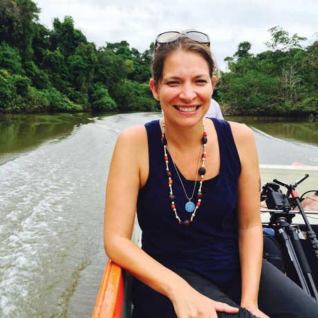 Michelle Trautwein in the Amazon