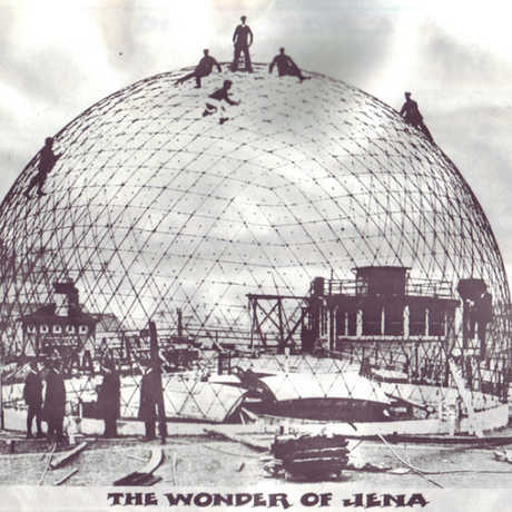 The first projection planetarium, under construction.