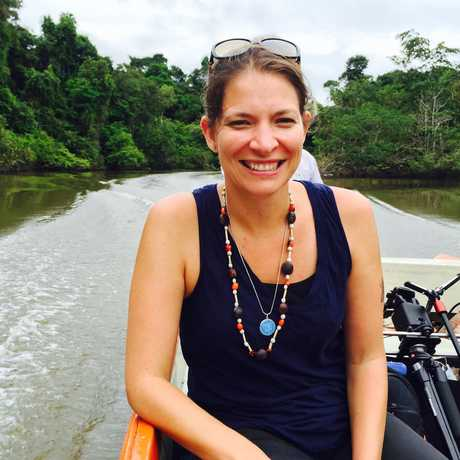 Michelle Trautwein at work in the Peruvian Amazon