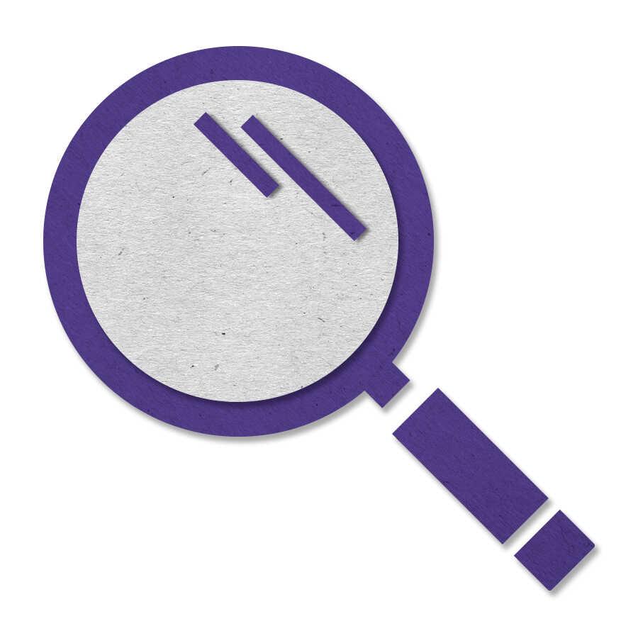 felt magnifying glass icon