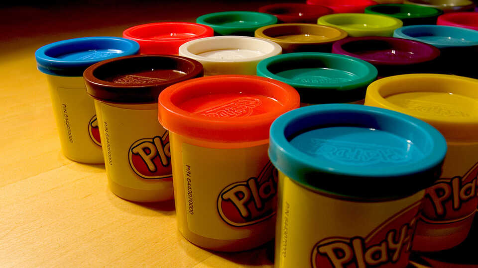 Playdoh can be used to build a scaled model of the solar system's planets.