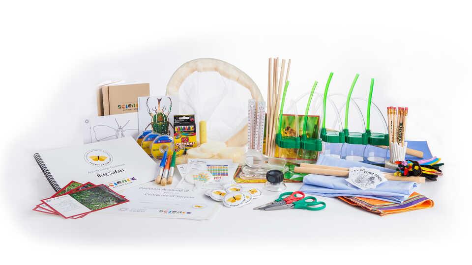 Display of Science Action Club's Bug Safari Kit components