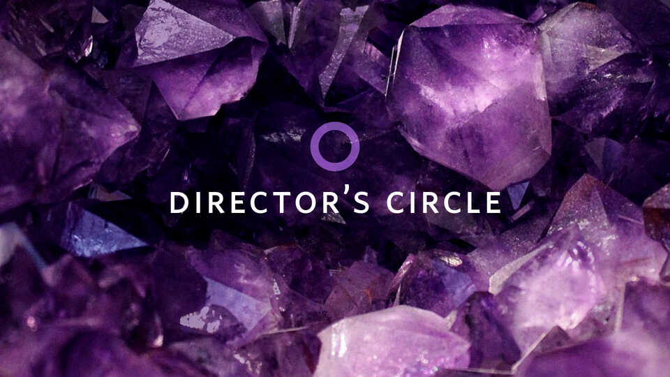 Director's Circle banner image with amethyst crystals