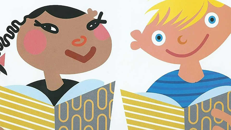 Illustration of 2 kids from The Skin You Live In book